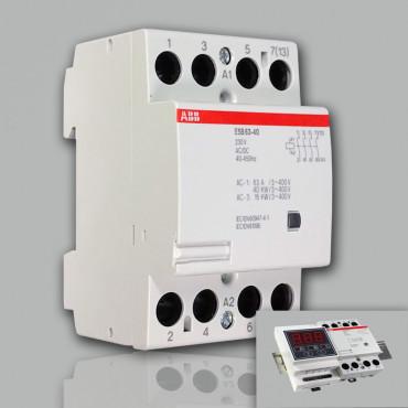 Модульный контактор ABB ESB-63-40 (63А AC1) 220В АС/DC